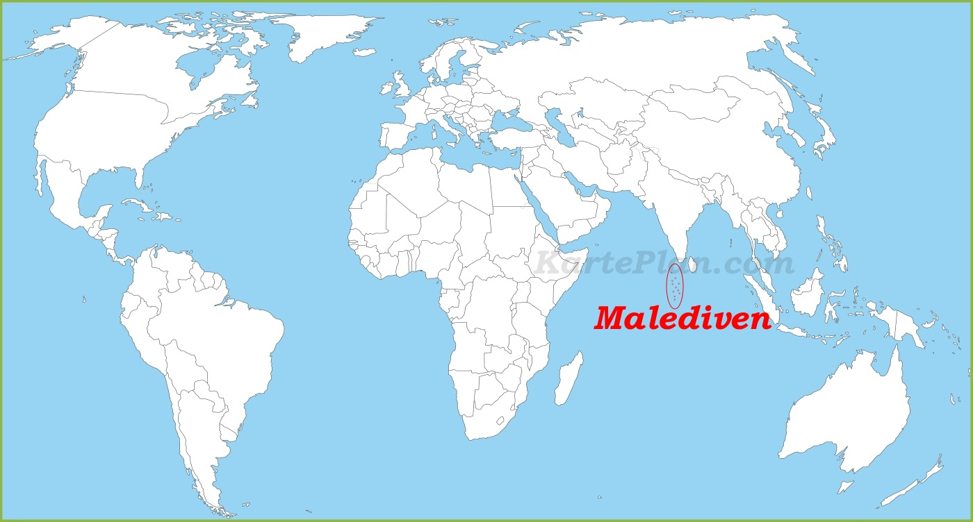 Malediven Karte Weltkarte.Malediven Auf Der Weltkarte