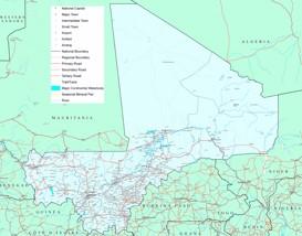 Große detaillierte karte von Mali