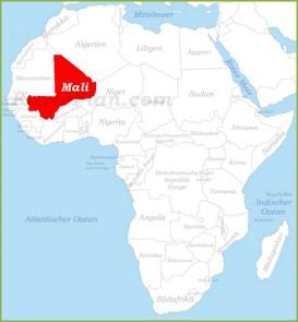 Mali auf der karte Afrikas