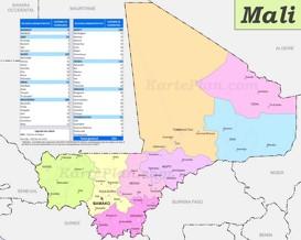 Mali politische karte