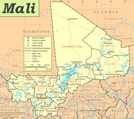 Straßenkarte von Mali