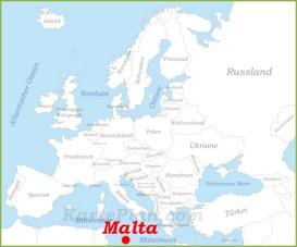 Malta auf der karte Europas