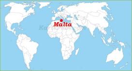 Malta auf der Weltkarte