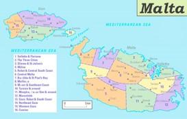 Malta politische karte