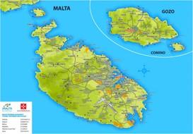 Malta Karte Landkarten Von Malta