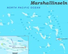 Große detaillierte karte von Marshallinseln