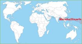 Marshallinseln auf der Weltkarte