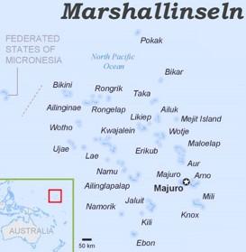 Marshallinseln politische karte