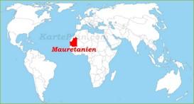Mauretanien auf der Weltkarte