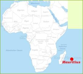 Mauritius auf der karte Afrikas