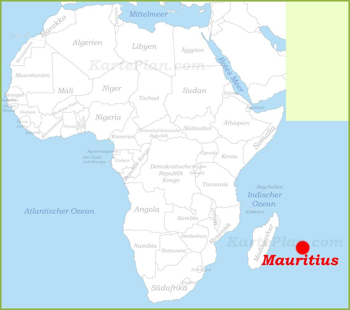karte mauritius Mauritius auf der karte Afrikas
