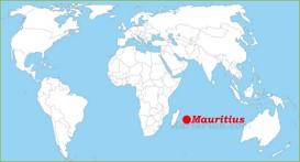 Mauritius auf der Weltkarte