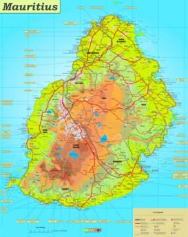 Mauritius touristische karte