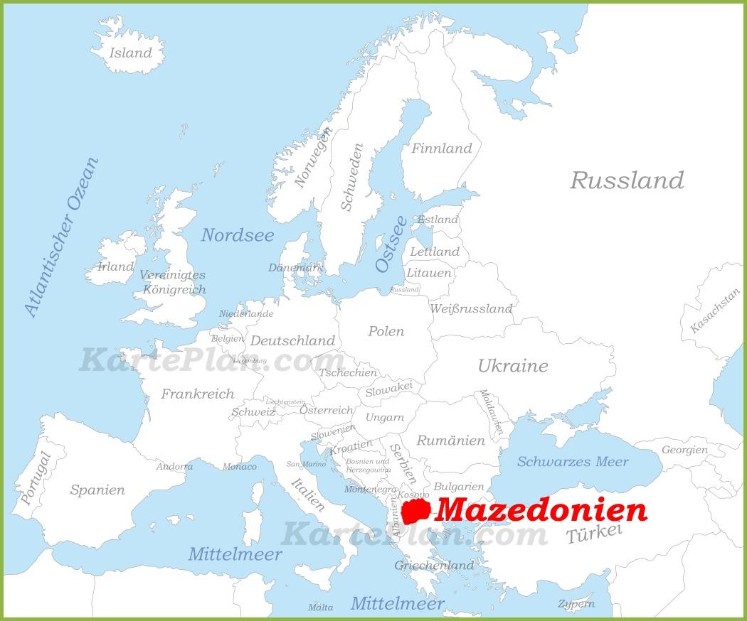 Mazedonien Karte.Mazedonien Auf Der Karte Europas