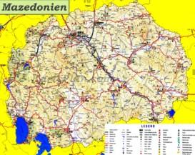Mazedonien touristische karte