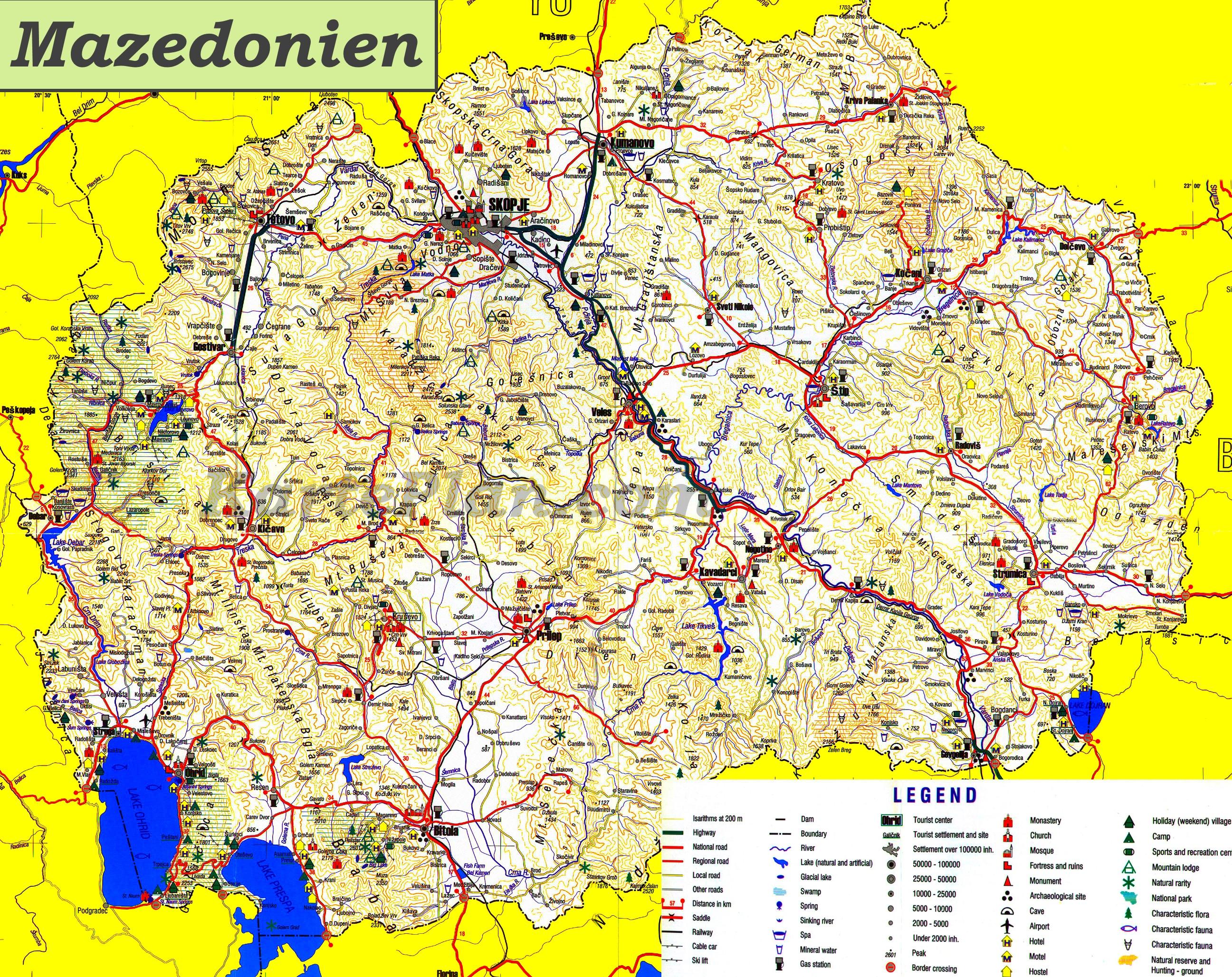 Mazedonien Karte