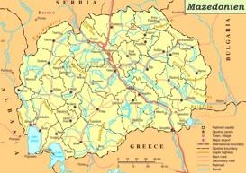 Straßenkarte von Mazedonien