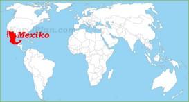 Mexiko auf der Weltkarte