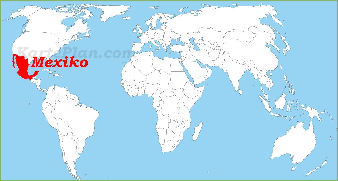 Mexiko Karte Welt.Mexiko Auf Der Weltkarte