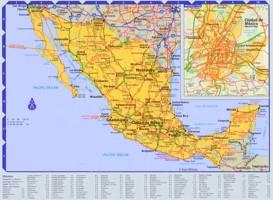 Straßenkarte von Mexiko