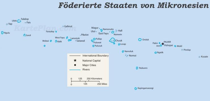 Grosse Detaillierte Karte Von Mikronesien