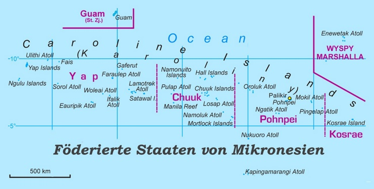 Mikronesien politische karte