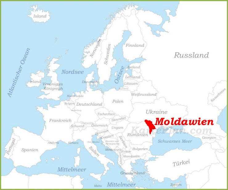 Moldawien auf der karte Europas