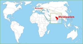 Moldawien auf der Weltkarte