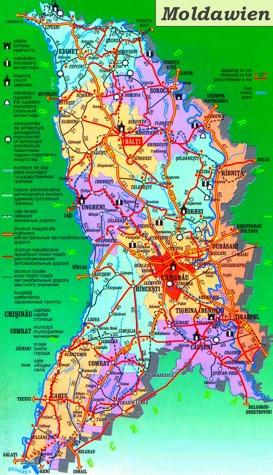 Moldawien touristische karte