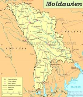 Straßenkarte von Moldawien