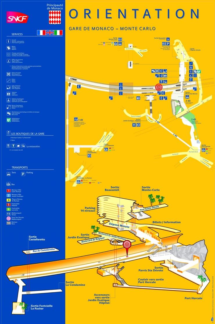 Bahnhof Monaco – Monte Carlo Plan