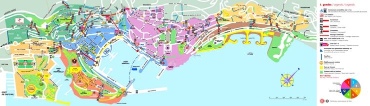 Große detaillierte karte von Monaco