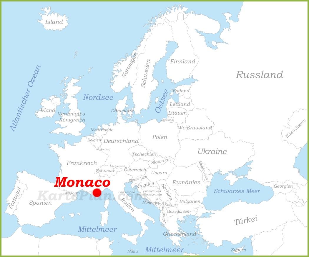 Monaco Italien Karte.Monaco Auf Der Karte Europas