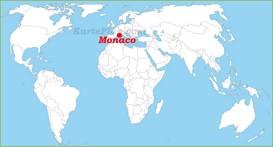 Monaco auf der Weltkarte