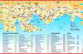 Monaco touristische karte