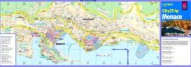 Straßenkarte von Monaco
