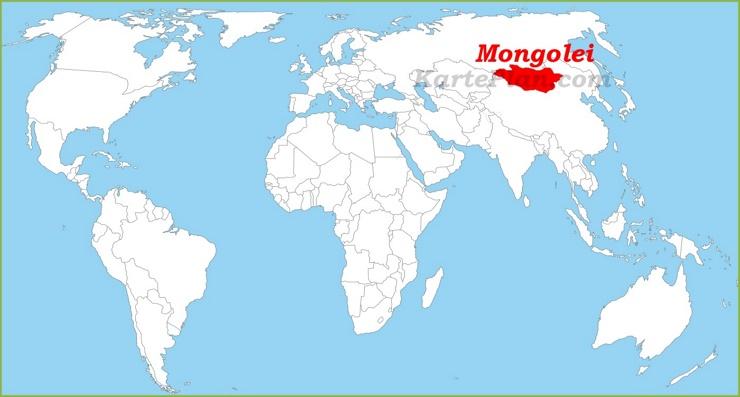 Mongolei auf der Weltkarte