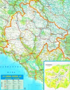 Große detaillierte karte von Montenegro
