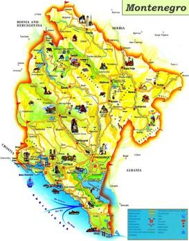 Montenegro touristische karte