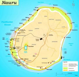 Große detaillierte karte von Nauru