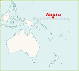 Nauru auf der karte Ozeaniens