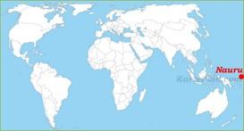 Nauru auf der Weltkarte