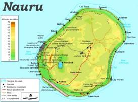 Straßenkarte von Nauru