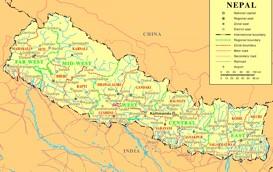 Nepal politische karte
