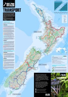 Große detaillierte karte von Neuseeland