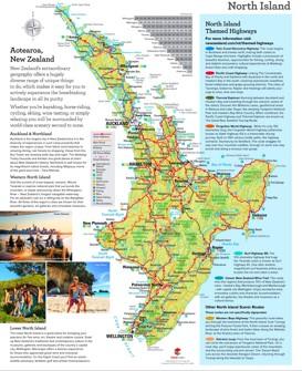 Nordinsel (Neuseeland) touristische karte