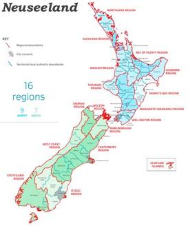 Verwaltungskarte von Neuseeland