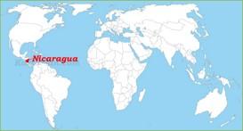 Nicaragua auf der Weltkarte