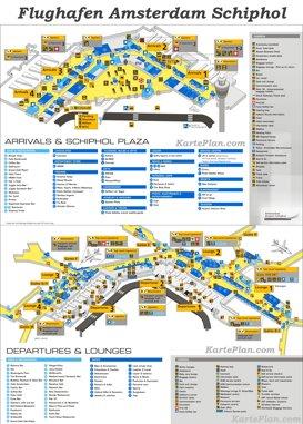 Flughafen Amsterdam Schiphol Plan