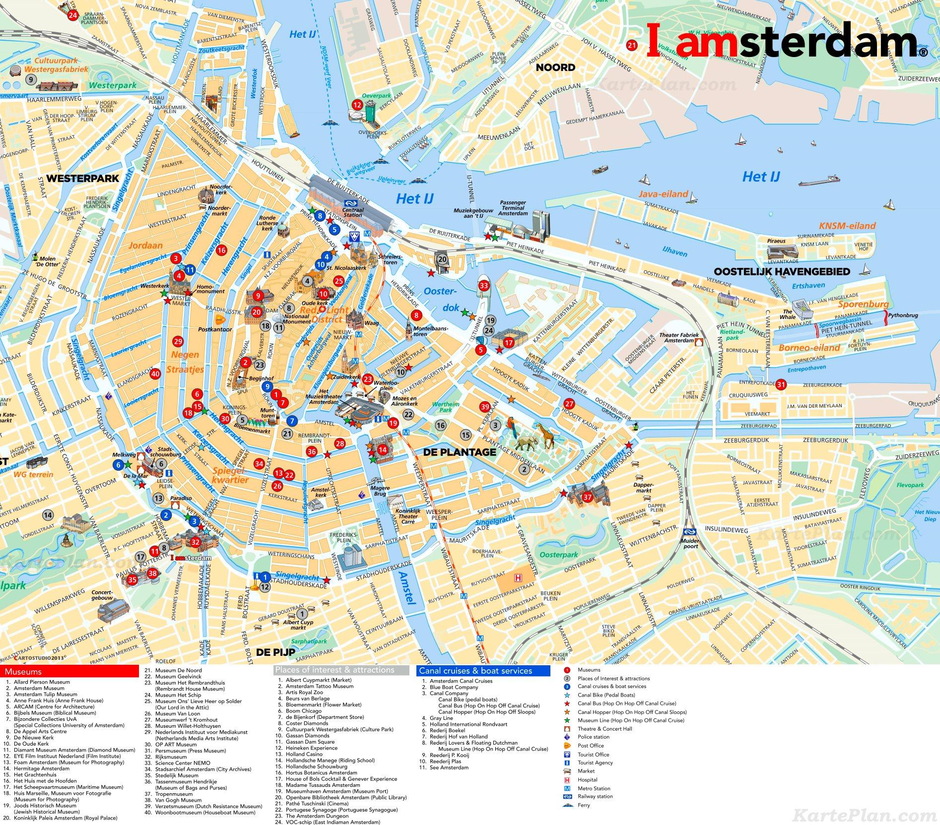 Hamburg Karte Sehenswurdigkeiten.Stadtplan Amsterdam Mit Sehenswurdigkeiten